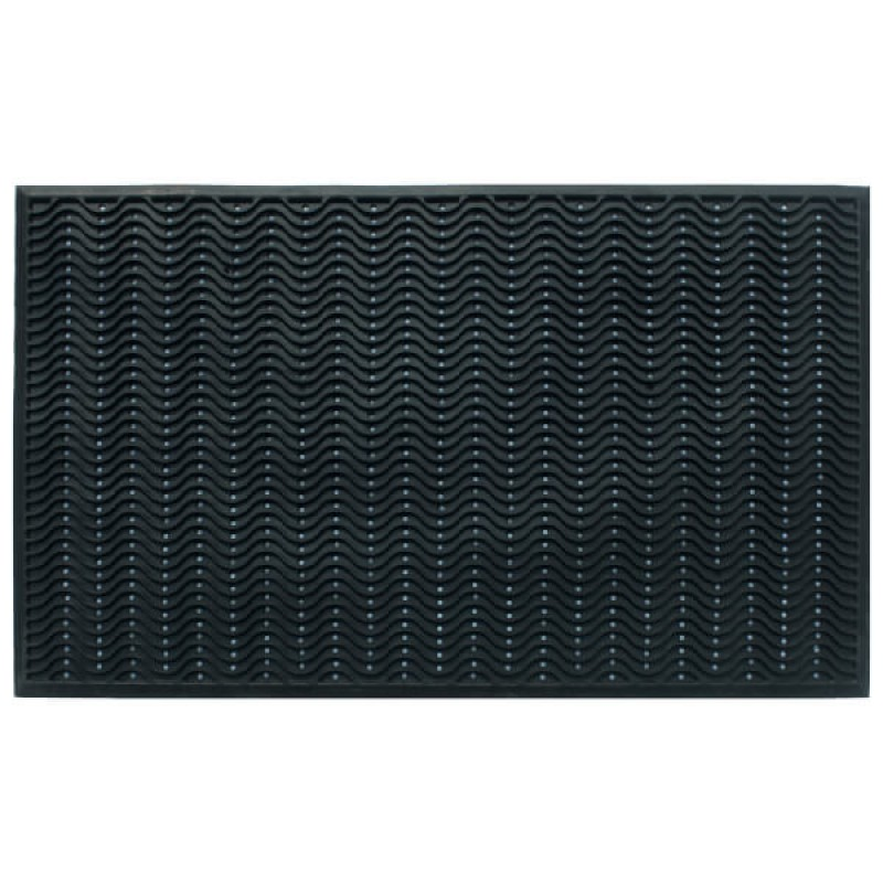 Rubber Doormat Waves 90x150 cm